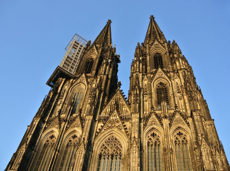 Cologne Cathedral before sunset