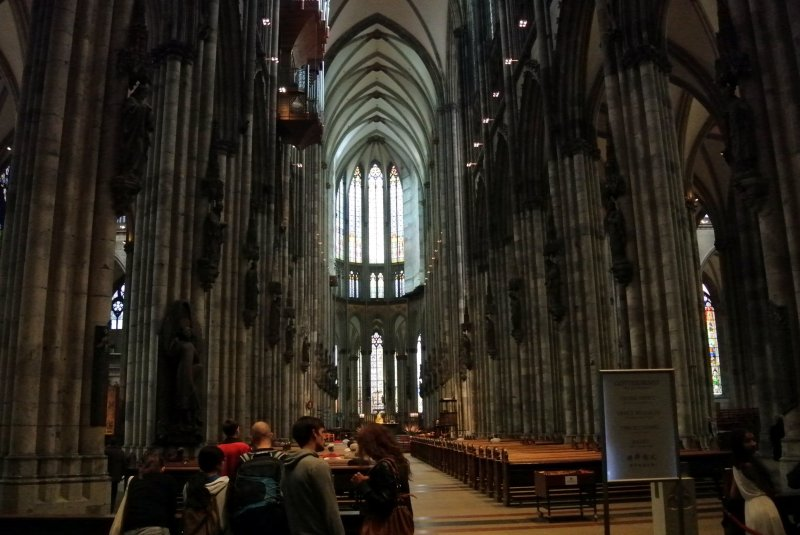 Main aisle of Cologne Cathedral