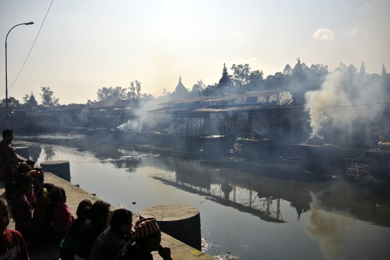 Cremations at Bagmati River